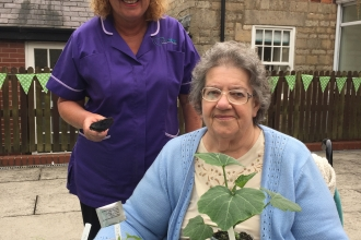 Janet Mansbridge and Dulcie from Langwith Lodge Residential Home
