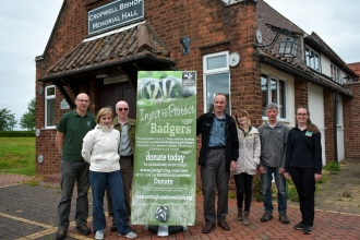 Gary Cragg - left - with members Nottinghamshire Wildlife Trusts Badger Vaccination Team at a recent training session