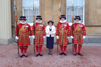 Janice Bradley MBE and Beefeaters