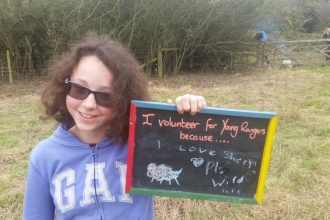 13 year old Joanne Barnes Attenborough Young Ranger Notts Widllife Trust