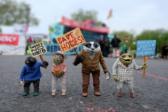 Ratty, Mole, Badger & Toad campaigning
