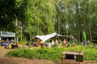 Wilder Woodland Gathering stage by Ellen Bradley