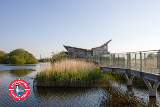 Attenborough Centre NottsWT with grebe lifeline appeal logo