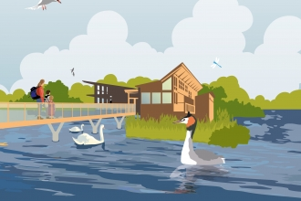 Attenborough Lifeline Appeal visitor centre graphic