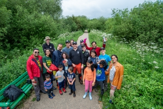 Volunteers at Attenborough Nature Reserve