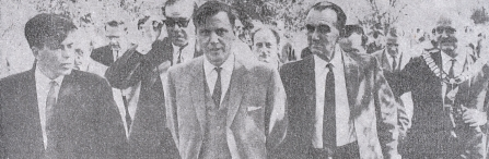 David Attenborough at 1966 opening of Attenborough Nature Reserve Nottswt cpt Nottingham Guardian