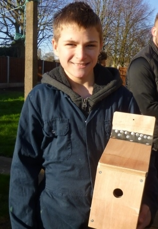 Young Roots nest box building HLF