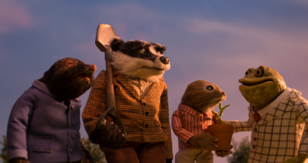 Mole, Badger, Ratty and Toad from Wind in the Willows