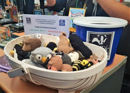 knitted wildlife donations