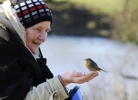 Robin on hand NottsWT cpt Jacqui Grafton