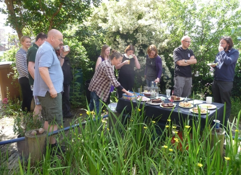 Juila Faulconridge and others at TORS Garden Party